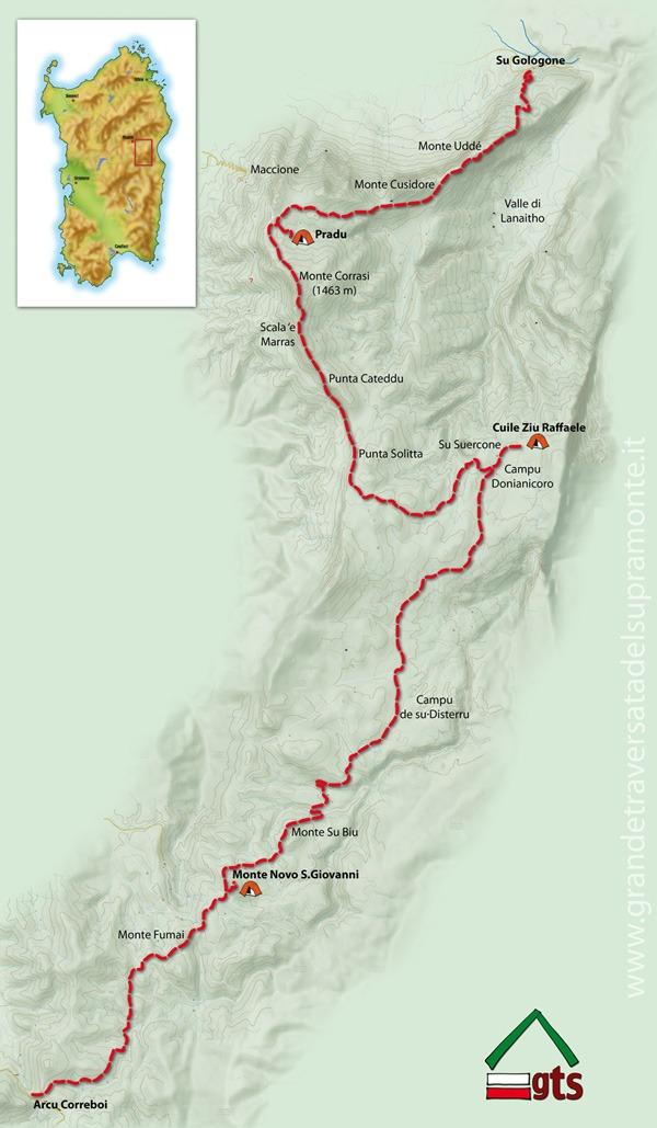 Cartina Sardegna Grande.Mappa Itinerari Trekking Sardegna Supramonte Dooid Dooid Magazine