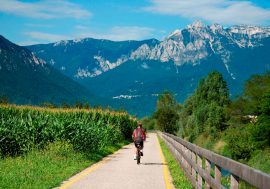 Cycling in Valsugana in Trentino