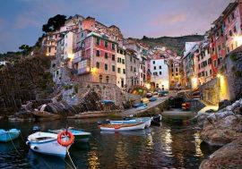 Mappa delle Cinque Terre: Portovenere e Riomaggiore