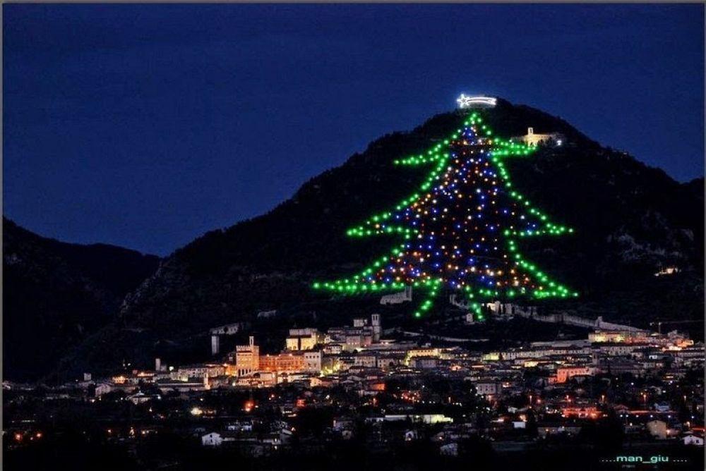 Albero Di Natale Gubbio.L Albero Di Natale Piu Alto Del Mondo Si Trova A Gubbio