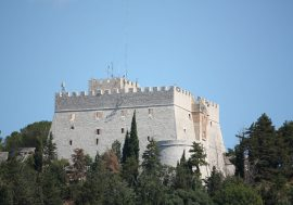 Italian monuments: the Monforte Castle in Campobasso