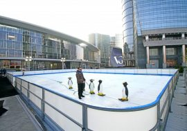 Pista di pattinaggio a Milano: Gae Aulenti on ice