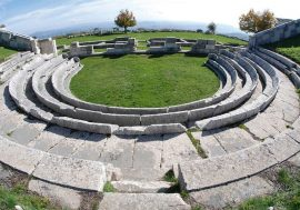 The archaeological area of Pietrabbondante in Italy