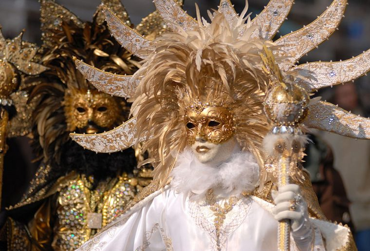 The Flight of the Angel at the Venice Carnival
