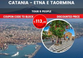 Guided Tour of Etna and Taormina departing from Catania