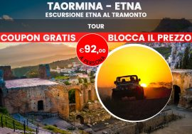 Sunset tour sull'Etna con partenza da Taormina