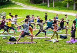The Yoga Mountain Festival in Aosta