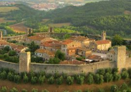 Monteriggioni's Castle and Medieval Village in the Siena Province