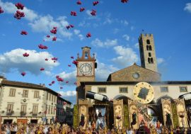 The Grape Festival in Impruneta in the Chianti Region
