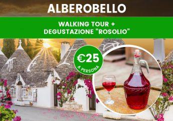 Walking tour ad Alberobello con degustazione del Rosolio