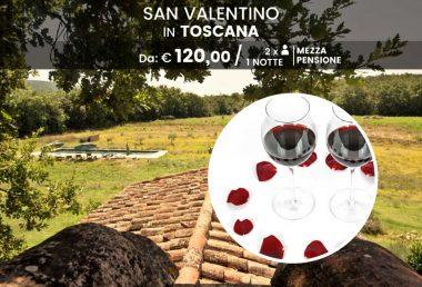San Valentino in Toscana: cena e notte in agriturismo