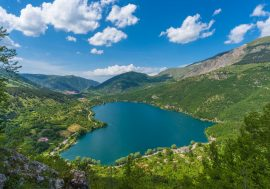 Scanno Lake in the Abruzzo Region of Central Italy