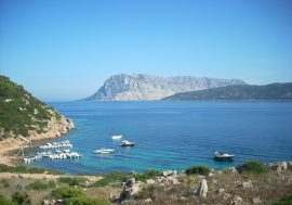Tavolara Island off the Coast of Olbia, Sardinia