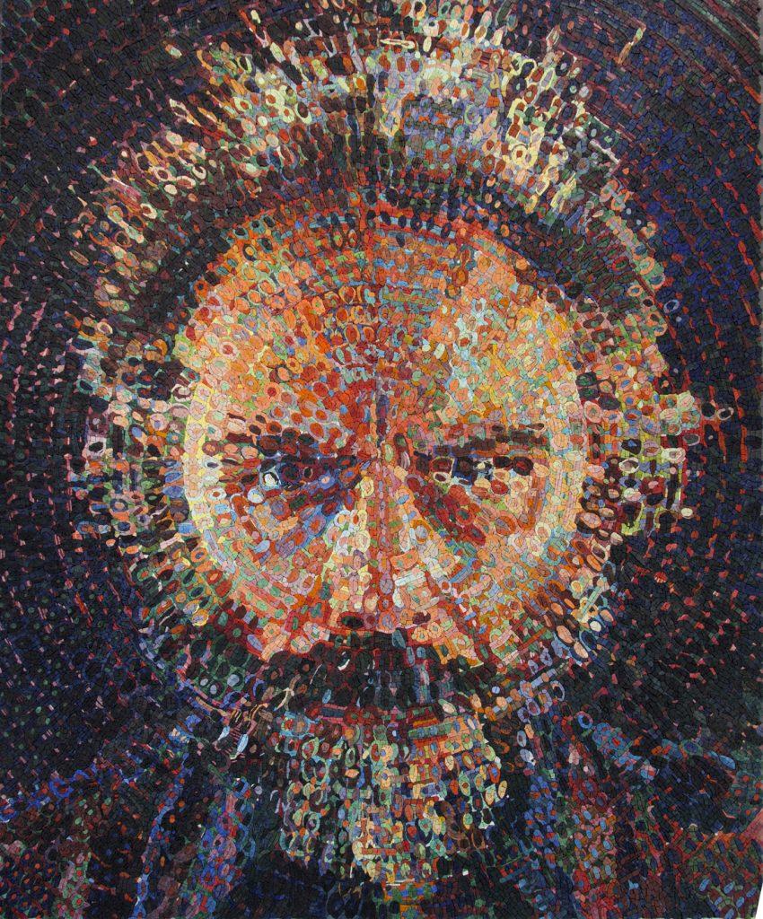 Chuck-Close-ravenna-mosaico