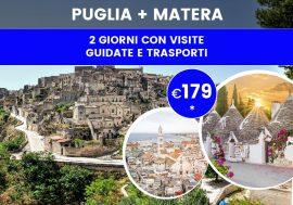 Tour Puglia e Matera: itinerario con partenza da Bari