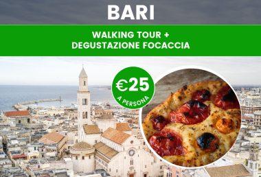 Walking tour di Bari con degustazione della focaccia tipica locale