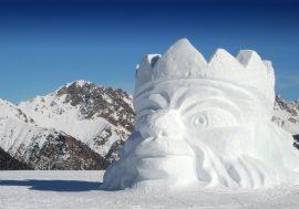 International Snow Sculpture Festival in Alto Adige