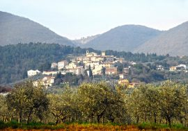 The Medieval Village of Giano dell'Umbria Near Perugia