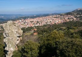 The Village of Calangianus in Sardinia