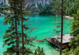 Lake Braies in the Dolomites of Alta Pusteria