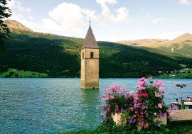 Spectacular Resia Lake in Val Venosta