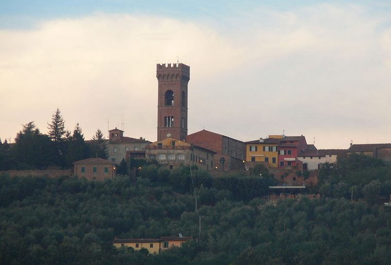 The Hilltop Village of Montecarlo in the Lucca Province